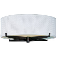 ET2 E95300-100OI Elements 2 Light 16 inch Oil Rubbed Bronze Flush Mount Ceiling Light in White Weave