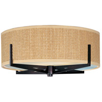 Elements 2 Light 16 inch Oil Rubbed Bronze Flush Mount Ceiling Light in Grass Cloth