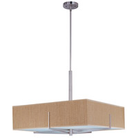 ET2 E95348-101SN Elements 3 Light 26 inch Satin Nickel Pendant Ceiling Light in Grass Cloth