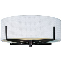 Elements 3 Light 16 inch Oil Rubbed Bronze Flush Mount Ceiling Light in White Weave
