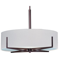 Elements 4 Light 26 inch Oil Rubbed Bronze Pendant Ceiling Light in White Weave