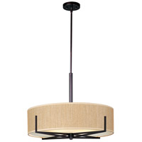 Elements 4 Light 26 inch Oil Rubbed Bronze Pendant Ceiling Light in Grass Cloth