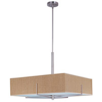 ET2 E95448-101SN Elements 4 Light 26 inch Satin Nickel Pendant Ceiling Light in Grass Cloth