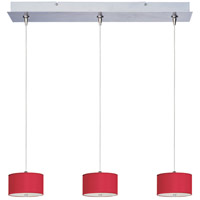 ET2 Elements 3 Light Linear Pendant in Satin Nickel E95496-105SN