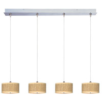ET2 Elements 4 Light Linear Pendant in Satin Nickel E95498-101SN