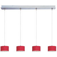 ET2 Elements 4 Light Linear Pendant in Satin Nickel E95498-105SN