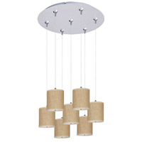 ET2 Elements 7 Light Multi-Light Pendant in Satin Nickel E95501-101SN