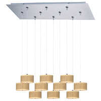 ET2 Elements 10 Light Linear Pendant in Satin Nickel E95504-101SN