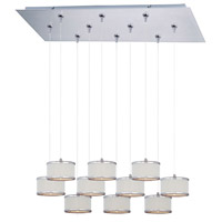 ET2 Elements 10 Light Linear Pendant in Satin Nickel E95504-102SN