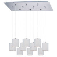 ET2 Elements 10 Light Linear Pendant in Satin Nickel E95505-100SN