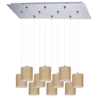 ET2 Elements 10 Light Linear Pendant in Satin Nickel E95505-101SN