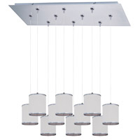 ET2 Elements 10 Light Linear Pendant in Satin Nickel E95505-102SN