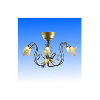 ET2 E999-9805 Signature 6 Light 28 inch Etruscan Gold Flush Mount Ceiling Light