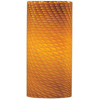 Carte Amber Ripple Pendant Glass