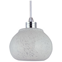 ET2 EP96003-10SN Snow White 1 Light 4 inch Satin Nickel RapidJack Pendant Ceiling Light