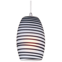 Minx 1 Light 5 inch Satin Nickel RapidJack Pendant Ceiling Light