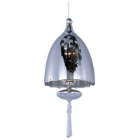 Minx 1 Light 5 inch Satin Nickel RapidJack Pendant Ceiling Light in Mirror Chrome