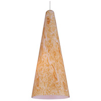 ET2 EP96020-103SN Lava 1 Light 5 inch Satin Nickel RapidJack Pendant Ceiling Light in Gold Lava
