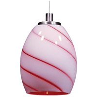ET2 EP96026-107SN Minx 1 Light 5 inch Satin Nickel RapidJack Pendant Ceiling Light in Cherry Swirl