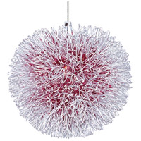 Minx 1 Light 5 inch Brushed Aluminum RapidJack Pendant Ceiling Light in Red