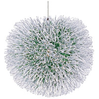 ET2 EP96075-94AL Clipp 1 Light 5 inch Brushed Aluminum RapidJack Pendant Ceiling Light in Green