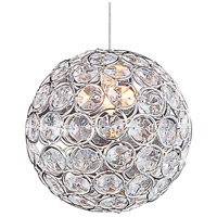 ET2 EP96077-20PC Brilliant 1 Light 5 inch Polished Chrome RapidJack Pendant Ceiling Light