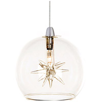 ET2 EP96080-24 Starburst 1 Light 4 inch RapidJack Pendant Ceiling Light in Clear photo thumbnail