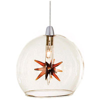 ET2 EP96080-25 Starburst 1 Light 4 inch RapidJack Pendant Ceiling Light in Clear/Amber