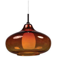 ET2 EP96085-141PC Minx 1 Light 8 inch Satin Nickel RapidJack Pendant Ceiling Light in Graduating Amber photo thumbnail