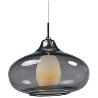ET2 EP96085-142PC Minx 1 Light 8 inch Satin Nickel RapidJack Pendant Ceiling Light in Graduating Smoke photo thumbnail