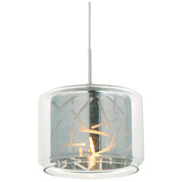 Minx 1 Light 6 inch Satin Nickel RapidJack Pendant Ceiling Light in Clear/Mirror
