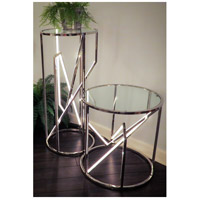ET2 E71007-PC Trapezoid 36 X 16 inch Polished Chrome Accent Table alternative photo thumbnail