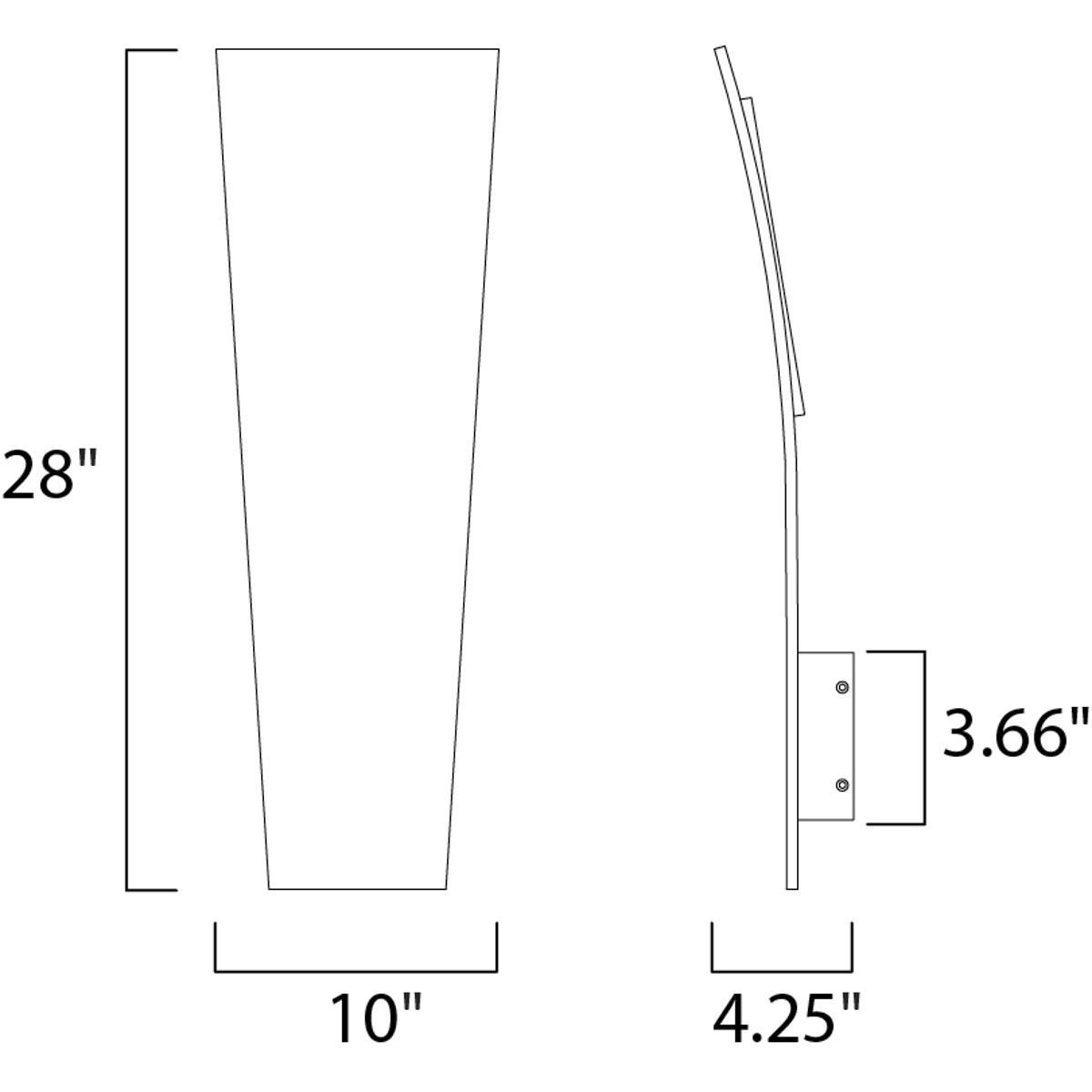 Et2 Lighting Wiring Diagram Library Contemporary E41499 Sa Alumilux Outdoor Wall Light Satin Aluminum