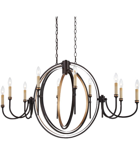 EuroFase 25648-010 Infinity 10 Light 21 inch Oil Rubbed Bronze Chandelier Ceiling Light photo