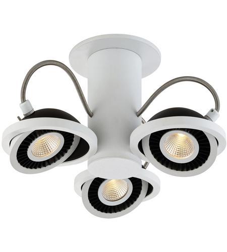 Eurofase 29486 014 Vision 3 Light 120v White And Black Track Lighting Ceiling