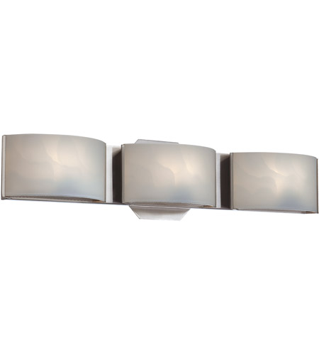 Chrome Glass Dakota Bathroom Vanity Lights