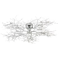 EuroFase 12264-018 Autumn 20 Light 45 inch Chrome Flush Mount Ceiling Light