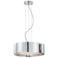 Dervish 3 Light 15 inch Chrome Pendant Ceiling Light