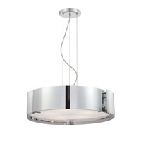 EuroFase 12531-042 Dervish 5 Light 22 inch Chrome Pendant Ceiling Light