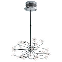 Starburst 24 Light 27 inch Chrome Chandelier Ceiling Light