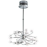 EuroFase 12899-012 Starburst 24 Light 27 inch Chrome Chandelier Ceiling Light