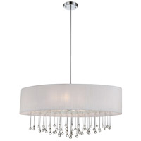 Penchant 6 Light 36 inch Chrome Pendant Ceiling Light