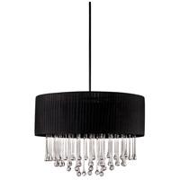 EuroFase 16035-010 Penchant 6 Light 24 inch Black Pendant Ceiling Light