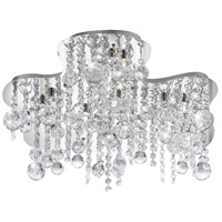 EuroFase 19396-019 Alissa 10 Light 19 inch Chrome Flush Mount Ceiling Light