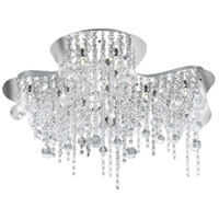 EuroFase 19397-016 Alissa 18 Light 26 inch Chrome Flush Mount Ceiling Light