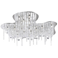 EuroFase 19398-013 Alissa 26 Light 37 inch Chrome Flush Mount Ceiling Light