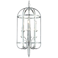 Senze 6 Light 18 inch Chrome Hanging Lantern Ceiling Light