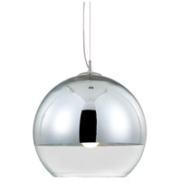 Chromos 1 Light 10 inch Chrome Pendant Ceiling Light