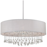 Penchant 6 Light 35 inch Chrome Pendant Ceiling Light