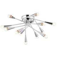 EuroFase 22802-026 Zazu 12 Light 26 inch White Flush Mount Ceiling Light